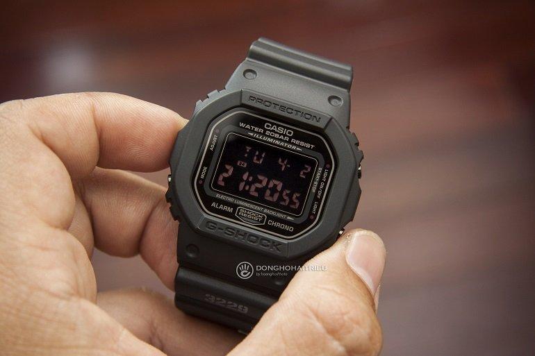 Cách Phân Biệt Đồng Hồ G-shock Chính Hãng Và G-shock Fake - Ảnh: G-Shock DW-5600MS-1DR
