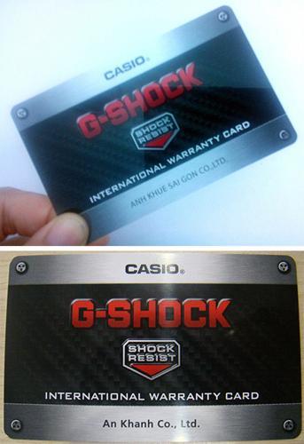 Cách Phân Biệt Đồng Hồ G-shock Chính Hãng Và G-shock Fake Thẻ Bảo Hành