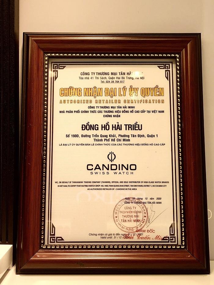 Chứng nhận đại lý chính hãng Candino