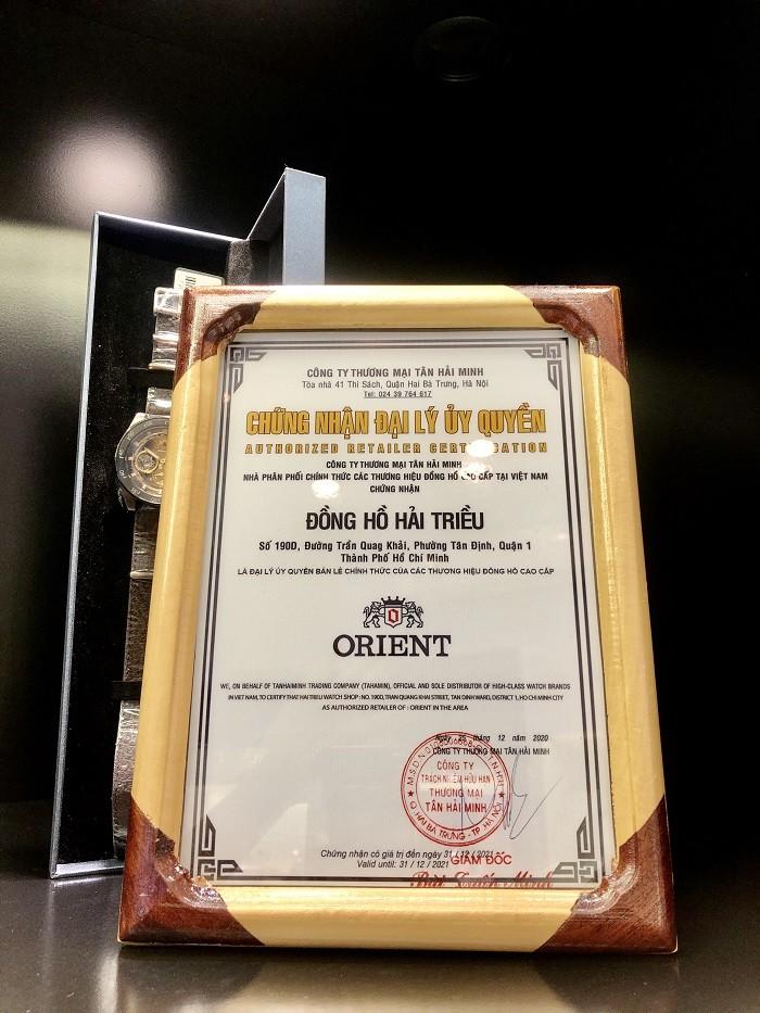 Chứng nhận đại lý chính hãng Orient