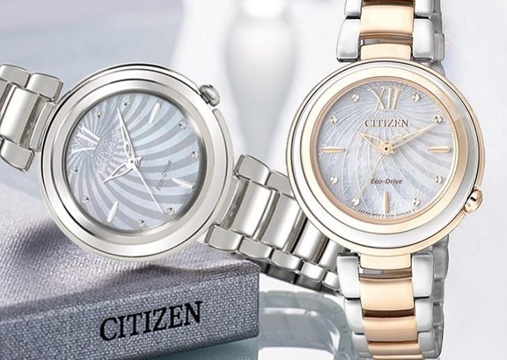 Đồng hồ Eco-Drive Citizen EM0331-52D năng lượng ánh sáng - Ảnh 7