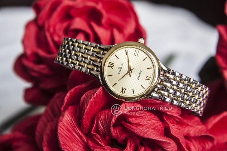 Đồng hồ Candino C4415/2 mạ vàng, kính Sapphire chống trầy - Ảnh 1