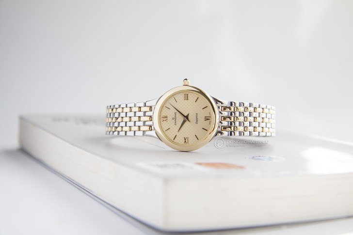 Đồng hồ Candino C4415/2 mạ vàng, kính Sapphire chống trầy - Ảnh 3
