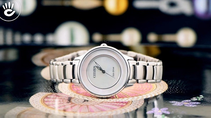 Đồng hồ Eco-Drive Citizen EM0380-57D năng lượng ánh sáng - Ảnh 1