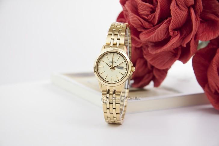 Đồng hồ Citizen EQ0603-59P máy quartz, mạ vàng sang trọng - Ảnh 1