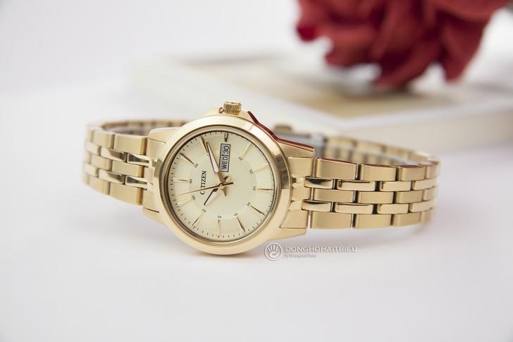 Đồng hồ Citizen EQ0603-59P máy quartz, mạ vàng sang trọng - Ảnh 2