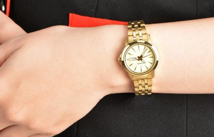 Đồng hồ Citizen EQ0603-59P máy quartz, mạ vàng sang trọng - Ảnh 3