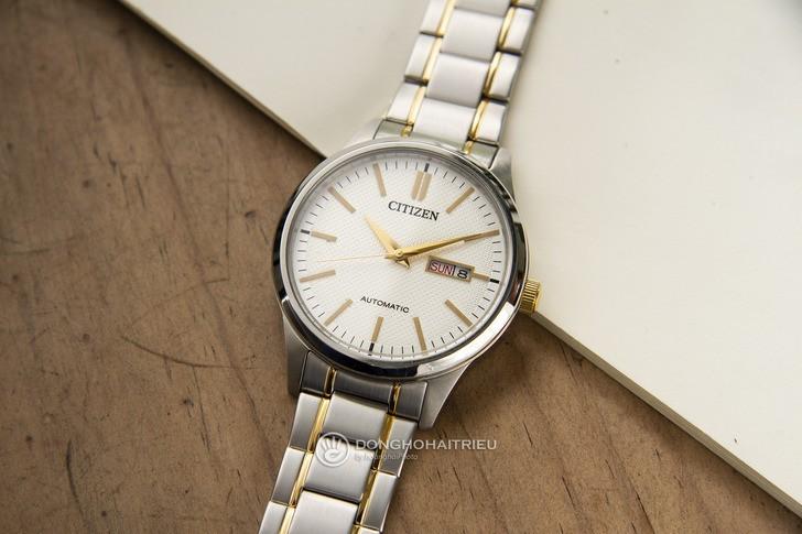 Đồng hồ nam Citizen NH7524-55A bộ máy cơ giá rẻ bất ngờ - Ảnh 1