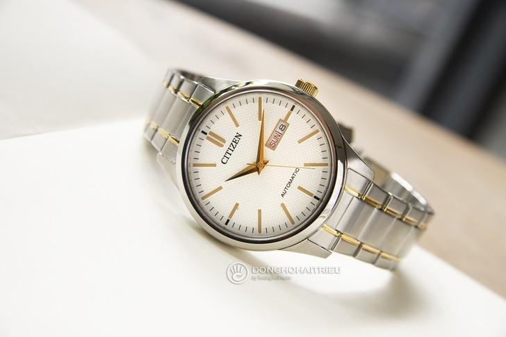 Đồng hồ nam Citizen NH7524-55A bộ máy cơ giá rẻ bất ngờ - Ảnh 2