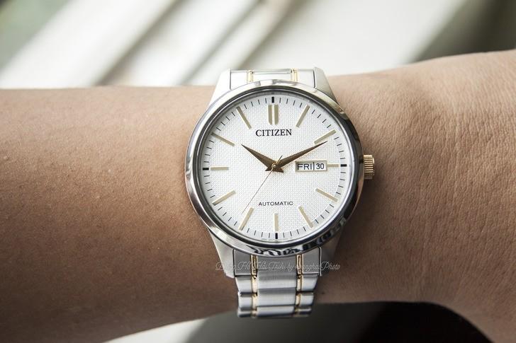 Đồng hồ nam Citizen NH7524-55A bộ máy cơ giá rẻ bất ngờ - Ảnh 3
