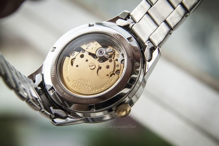 Đồng hồ nam Citizen NH7524-55A bộ máy cơ giá rẻ bất ngờ - Ảnh 4