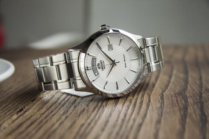 Đồng hồ Orient FEV0V001WH dây kim loại, lên cót tự động - Ảnh 1