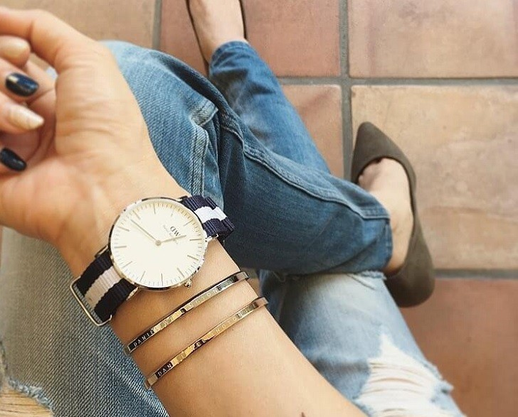 Đồng hồ Daniel Wellington DW00100047 rẻ thay pin miễn phí - Ảnh 4