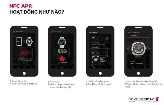 huong dan su dung chip NFC tren dong ho sevenfriday 5