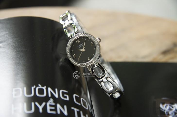 Đồng hồ nữ Citizen EJ6070-51E thiết kế đính đá sang trọng - Ảnh 6