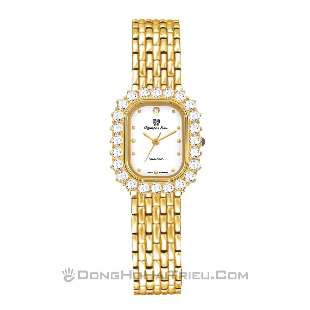 Tổng hợp 30 mẫu đồng hồ nữ mặt nhỏ dưới 29mm bán chạy nhất - Ảnh: Olym Pianus (Olympia Star) 28015DLK-T