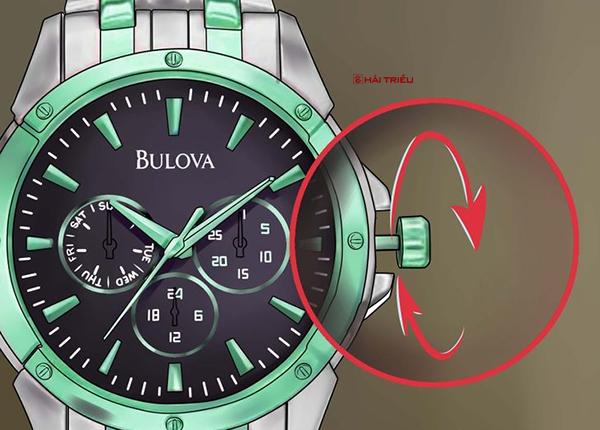 chinh gio dong ho bulova chronograph 2