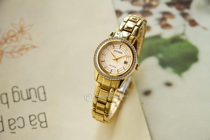 đồng hồ Citizen FE1122-88P: Những viên đá pha lê lấp lánh - Ảnh 2