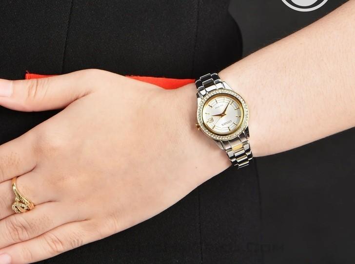 Đồng hồ nữ Citizen FE1124-82A bộ máy năng lượng ánh sáng - Ảnh 1