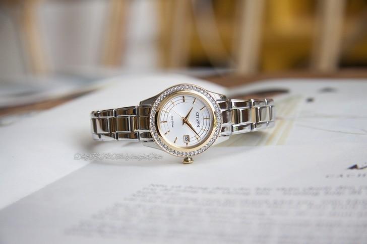 Đồng hồ nữ Citizen FE1124-82A bộ máy năng lượng ánh sáng - Ảnh 2