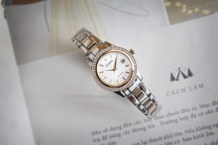 Đồng hồ nữ Citizen FE1124-82A bộ máy năng lượng ánh sáng - Ảnh 3