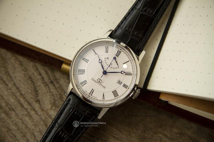 Đồng hồ Orient SEL09004W0 kim xanh, máy cơ tự động cao cấp - Ảnh 1