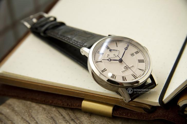 Đồng hồ Orient SEL09004W0 kim xanh, máy cơ tự động cao cấp - Ảnh 2