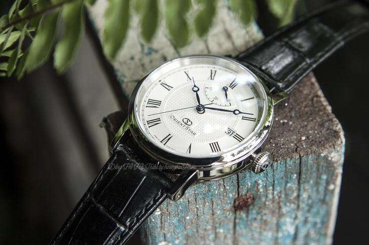 Đồng hồ Orient SEL09004W0 kim xanh, máy cơ tự động cao cấp - Ảnh 3