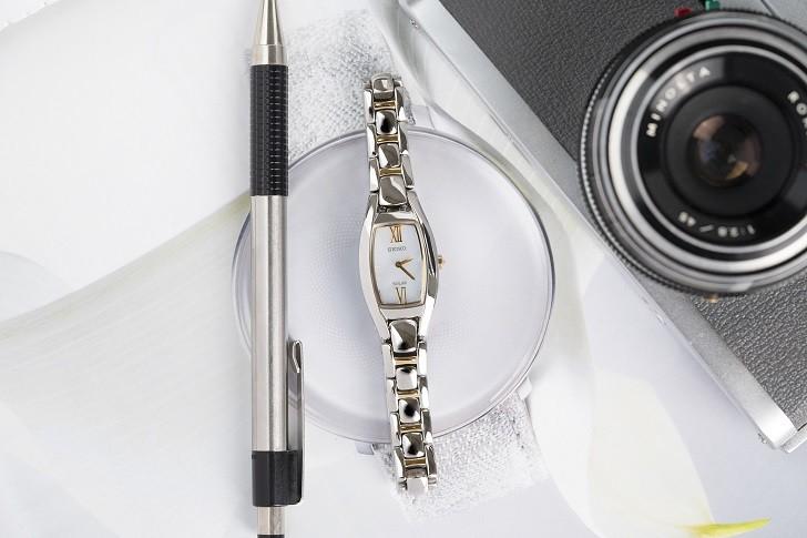 Đồng hồ nữ Seiko SUP312P1 độc đáo, máy năng lượng ánh sáng - Ảnh 1