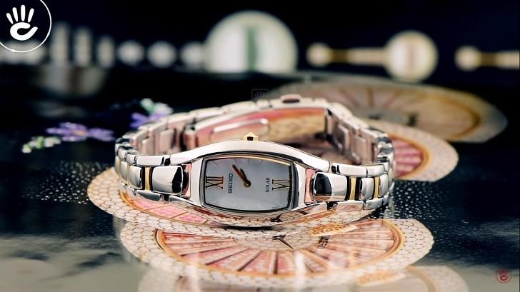 Đồng hồ nữ Seiko SUP312P1 độc đáo, máy năng lượng ánh sáng - Ảnh 2