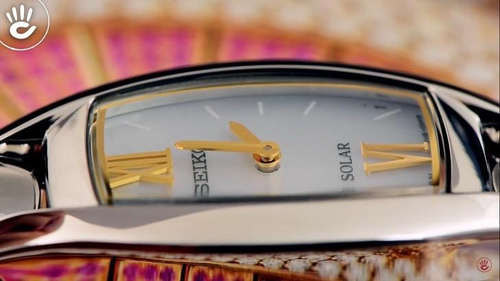 Đồng hồ nữ Seiko SUP312P1 độc đáo, máy năng lượng ánh sáng - Ảnh 3