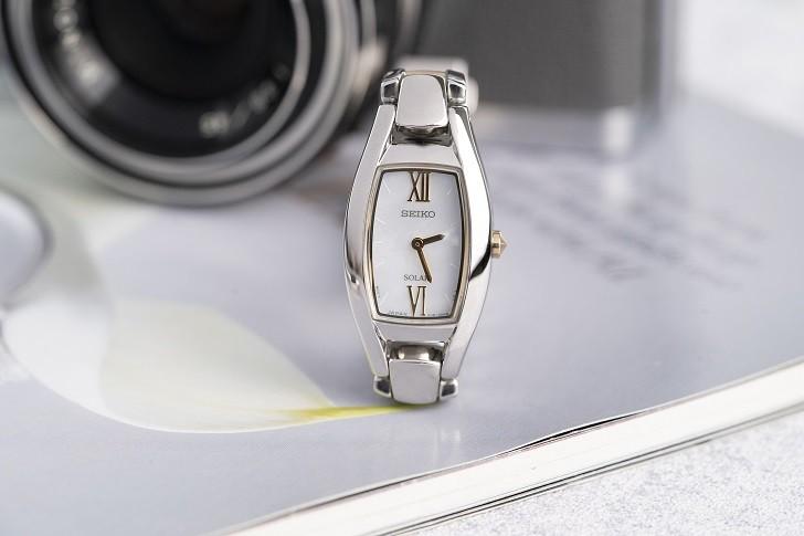 Đồng hồ nữ Seiko SUP312P1 độc đáo, máy năng lượng ánh sáng - Ảnh 4