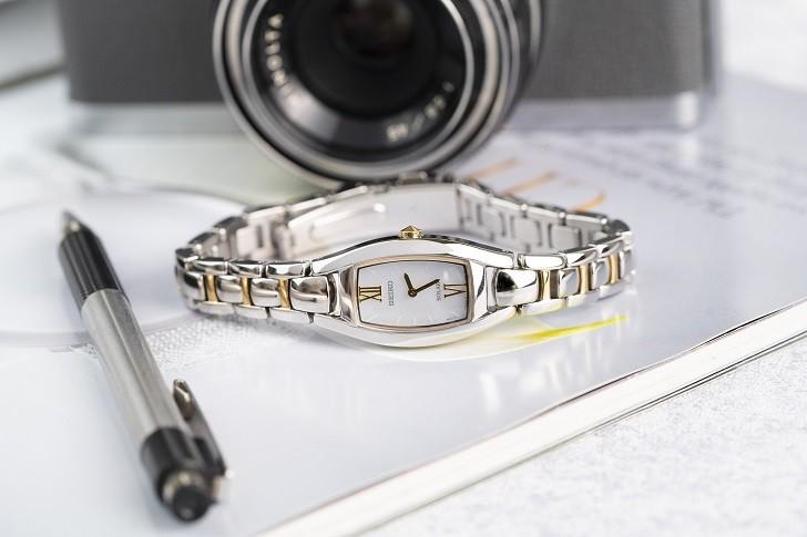 Đồng hồ nữ Seiko SUP312P1 độc đáo, máy năng lượng ánh sáng - Ảnh 5