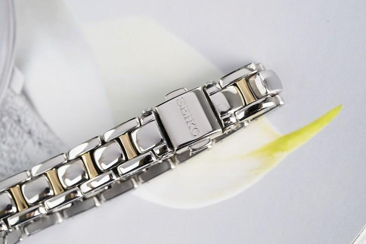 Đồng hồ nữ Seiko SUP312P1 độc đáo, máy năng lượng ánh sáng - Ảnh 6