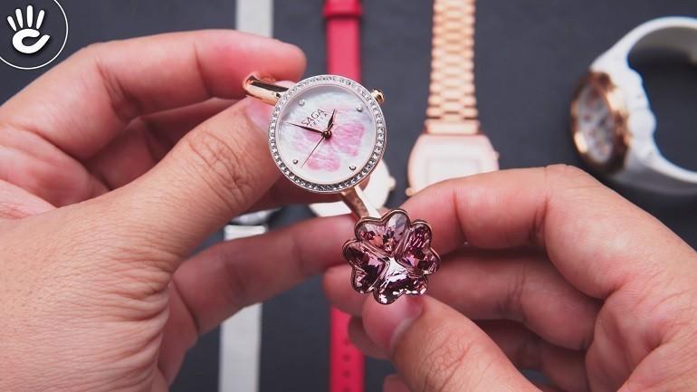 Đồng hồ Swarovski là gì? Ý nghĩa và công dụng trong đồng hồ - Ảnh: Saga 53585 RGMPRG-2S