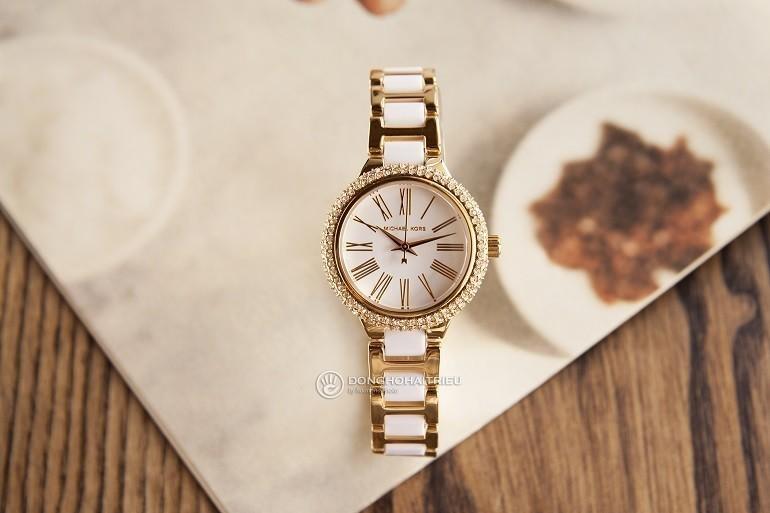 Đồng hồ Swarovski là gì? Ý nghĩa và công dụng trong đồng hồ - Ảnh: Michael Kors MK6581