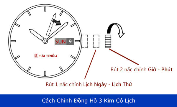 Cách Chỉnh Đồng Hồ 3 Kim Nhiều Thương Hiệu Khác Nhau Có Lịch