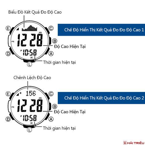 Cách Dùng Altimeter Trên Đồng Hồ Casio Đo Độ Cao Pro Trek