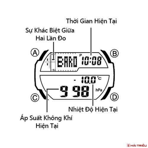 Cách Dùng Barometer Trên Đồng Hồ Casio Đo Áp Suất Không Khí Out Gear