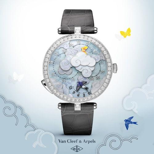 6 Đồng Hồ Thời Trang Nữ Hàng Hiệu Đắt Xắt Ra Miếng Van Cleef Arpels Lady Arpels Ronde des Papillons