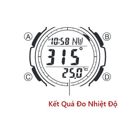 Cách Dùng Thermometer Đồng Hồ Casio OUTGEAR Đo Nhiệt Độ Nút SGW-100