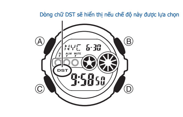 Chức Năng Worldtime Đồng Hồ G-Shock Sử Dụng Như Thế Nào DST