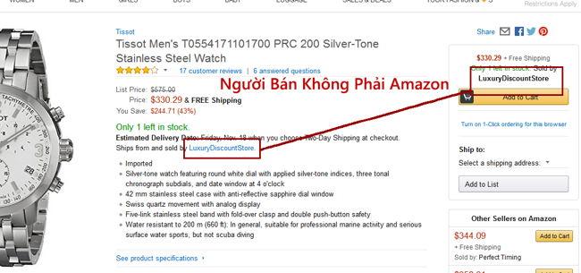 so sánh mua đồng hồ trên Amazon và Hải Triều Chính Hãng