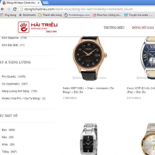 so sánh mua đồng hồ trên Amazon và Hải Triều HT