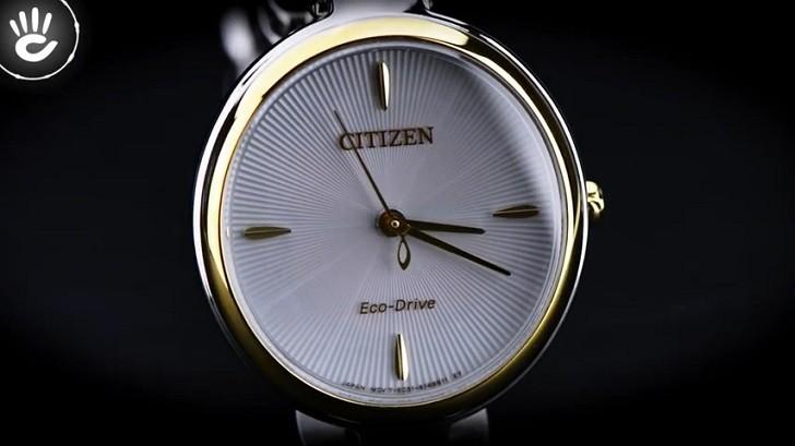 Đồng hồ Eco-Drive Citizen EM0424-88A năng lượng ánh sáng - Ảnh 3