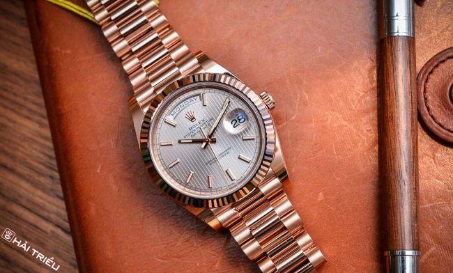 Tự Chế Vật Liệu Đồng Hồ Độc Quyền, Hãng Nào Làm Được? (Phần 1) Everose Rolex Day Date 40