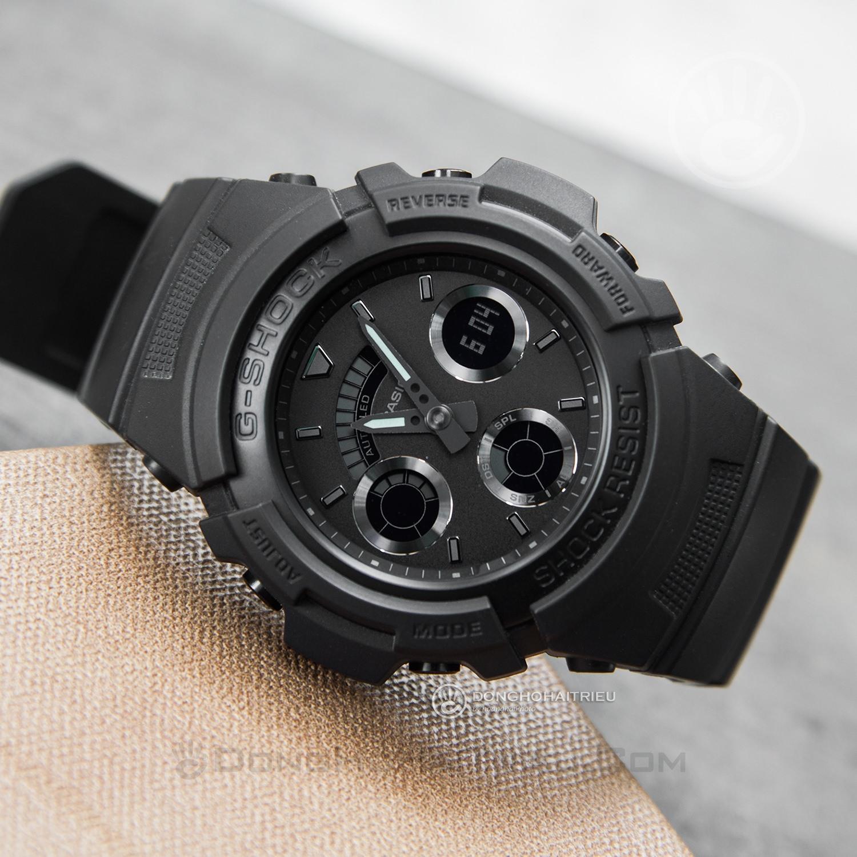 reputable site ccf52 3b3a9 Đồng hồ G-Shock AW-591BB-1ADR chống sốc, gần 15 tính năng