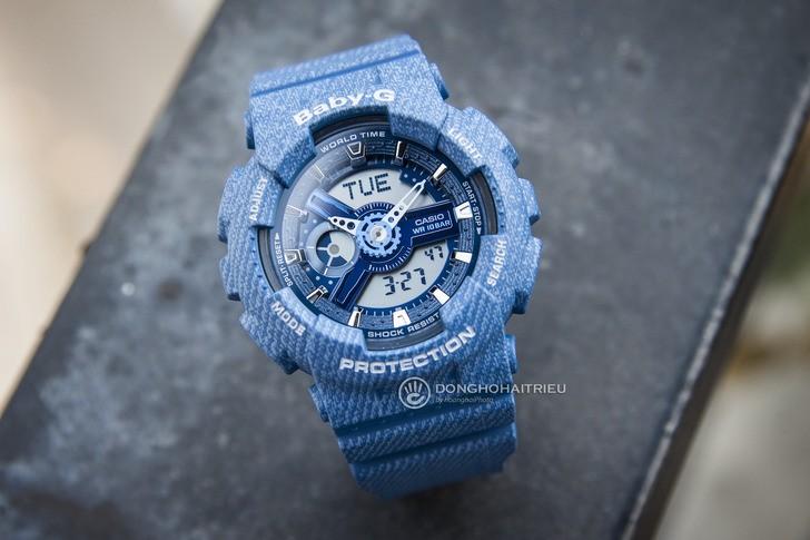 Đồng hồ Baby-G BA-110DC-2A2DR: Cảm hứng từ chất liệu jean - Ảnh 1