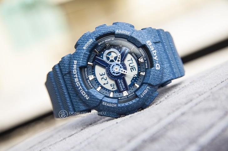 Đồng hồ Baby-G BA-110DC-2A2DR: Cảm hứng từ chất liệu jean - Ảnh 2