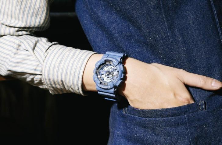 Đồng hồ Baby-G BA-110DC-2A2DR: Cảm hứng từ chất liệu jean - Ảnh 3